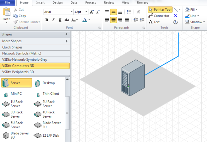 Drawing Lines In Visio : Technical drawing isometric projection using microsoft